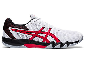 Asics Gel-Blade 7 Shoes - White/Red