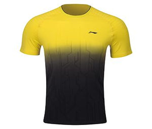 Li-Ning Men's T-Shirt, Kiwi Fruit Yellow/Standard Black