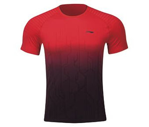 Li-Ning Men's T-Shirt, Red/Standard Black