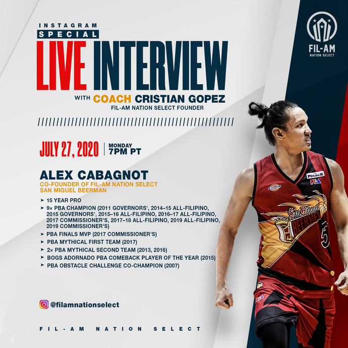 Live interview with Alex Cabagnot