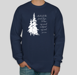 John Muir Quote Long Sleeve T-shirt Navy