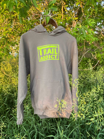 Trail Addict Gray Hoodie