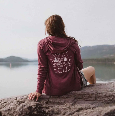 Hoodie Zip Lightweight - Let Adventure Fill Your Soul