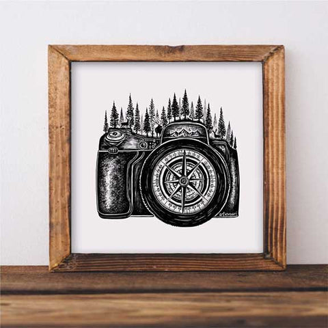 camera forest art