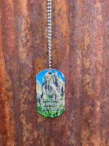 Cathedral Spires Dog Tag