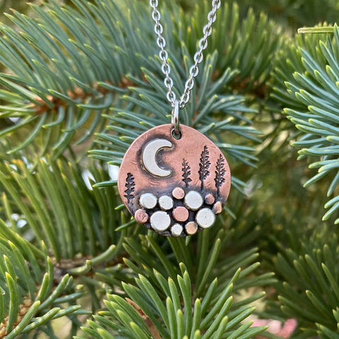 Copper Creekbed Scenery Necklace