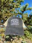 Black Hills Trail Addict Distressed Trucker Hat Gray