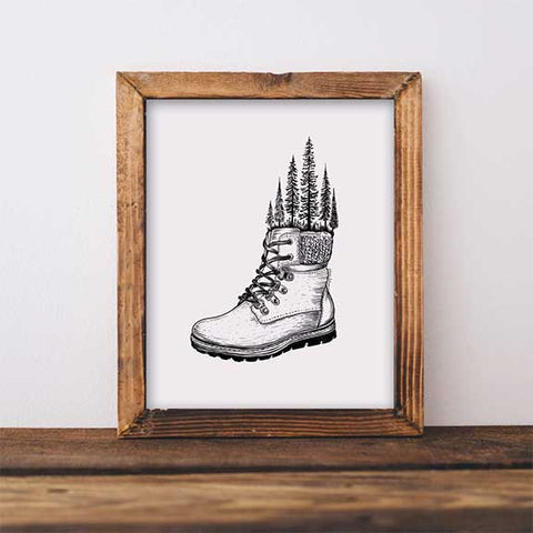 hiking boot art