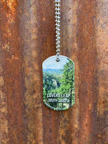 Lovers Leap Dog Tag