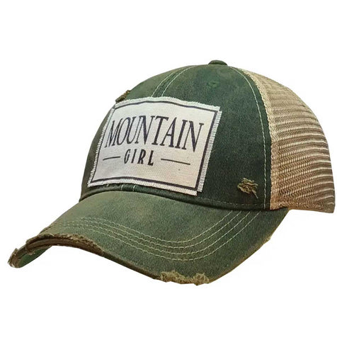 Distressed Trucker Hat - Mountain Girl