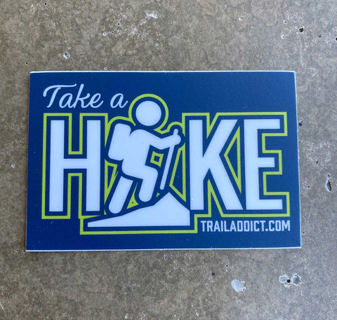 "Sticker Take A Hike 3"" x 2"""