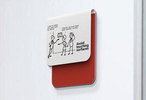 Avoid touching surfaces - Stick Family, Fold-BAD COVID Signage