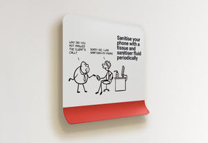 Sanitise your phone with a tissue - Stick Family, Peel-BAD COVID Signage