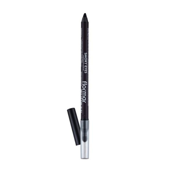 Flormar Smoky Eyes Carbon Black Waterproof Eyeliner (005 Deep Purple) - 1,14g