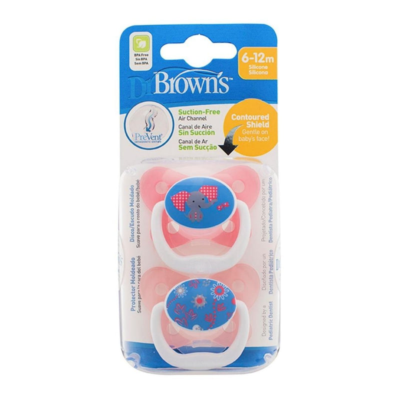 Dr. Brown's Prevent Chupeta Silicone Butterfly (6-12M) - 2 Unidades