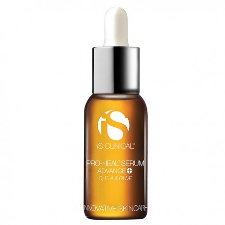 Glass bottle of iS Clinical Pro-Heal Serum Advance+