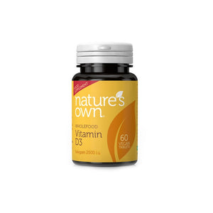 Nature's Own Vitamin D3 Vegan 2500 iu