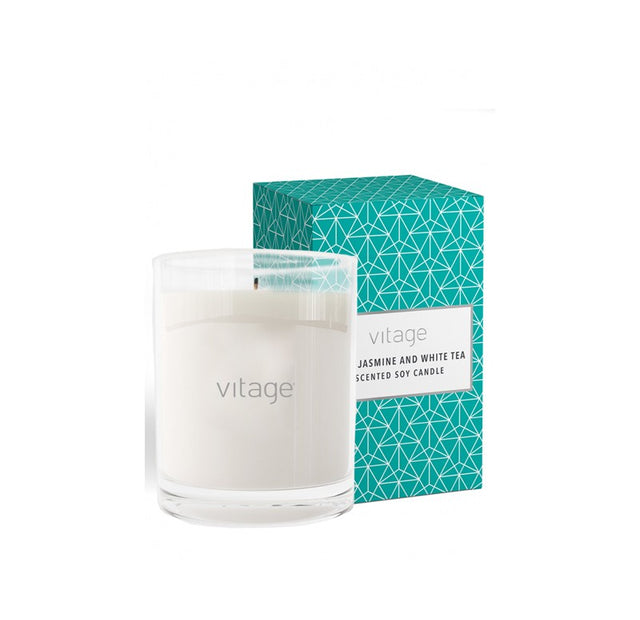 Vitage NO1. Jasmine and White Tea Scented Soy Candle