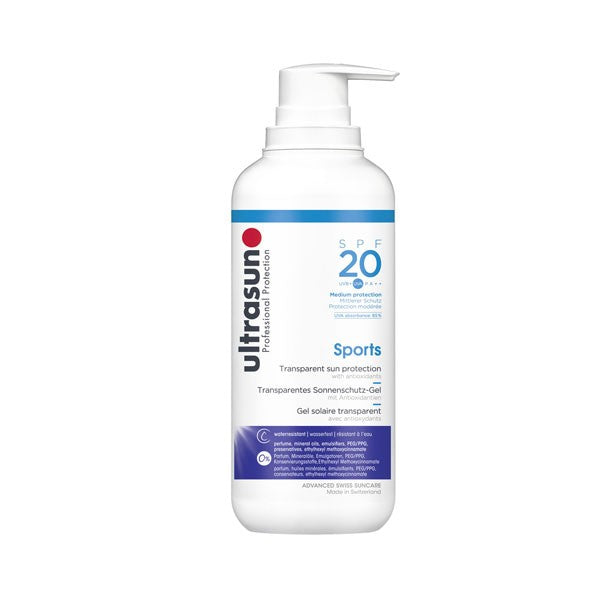 Ultrasun Sports Gel SPF 20 400ml