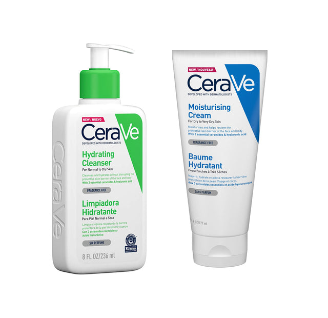 Perfect Product Pair: CeraVe Hydrating Cleanser 236ml + Moisturising Cream 177ml