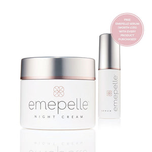 Emepelle Night Cream With Free Emepelle Serum