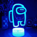 Among Us 7 Colors Led Lights with Touch Switch For Kids Gifts