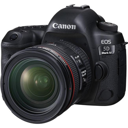 Canon EOS 5D Mark IV 30.4 Megapixel Digital SLR Camera with Lens - 24 mm - 70 mm - Black Cameras & Optics Canon, Inc