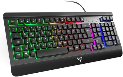 Gaming Keyboard UK VicTsing Ultra-Slim All-Metal Frame USB Wired Gaming VicTsing