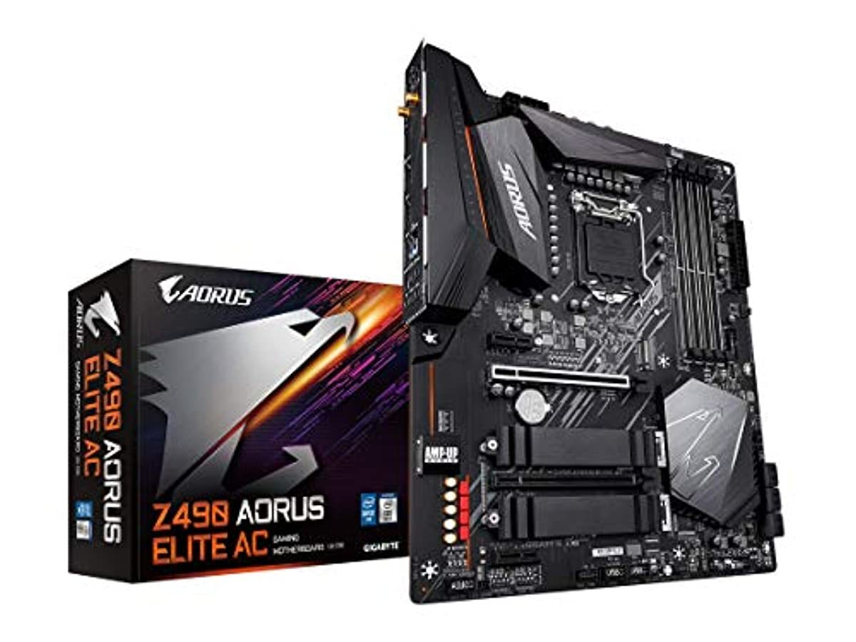 GIGABYTE Z490 AORUS Elite AC Intel Thermal Guard Gaming Motherboard Computer Accessories GIGABYTE Technology, Inc