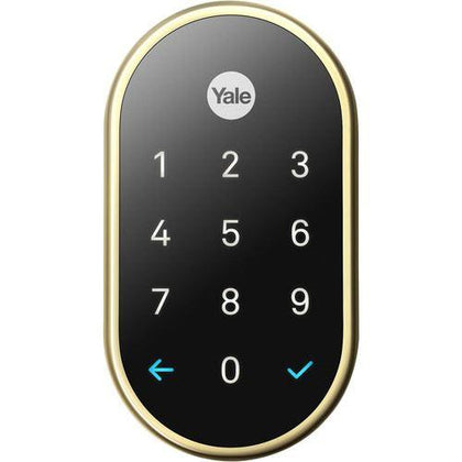 Google Nest x Yale Lock (Polished Brass) with Nest Connect Newtech Store Saudi Arabia