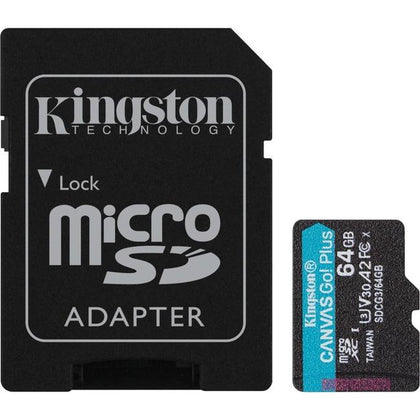 Kingston Canvas Go! Plus 64 GB Class 10-UHS-I (U3) microSDXC Memory Kingston Technology Company