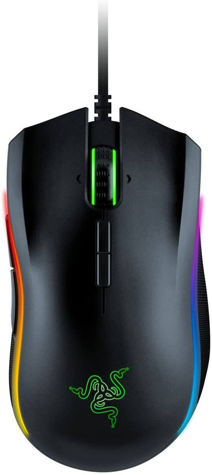 Razer Mamba Elite: 5G True 16,000 DPI Optical Sensor - 9 Programmable Buttons - Ergonomic Form Factory - Powered Razer Chroma - Esports Gaming Mouse Gaming Razer