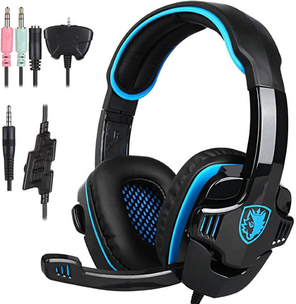 Sades SA708GT PS4 Gaming Headset Gaming Headset Sades Blue