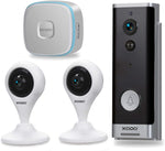 XODO PK2 Smart Home Security Kit with Two 1080p HD Wi-Fi Cameras, Video Doorbell, Wireless Chime, 2 Way Audio, Motion Sensor, Nigh Vison, App Control