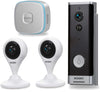 XODO PK2 Smart Home Security Kit with Two 1080p HD Wi-Fi Cameras, Video Doorbell, Wireless Chime, 2 Way Audio, Motion Sensor, Nigh Vison, App Control Door bell Xodo Video Doorbell + Bonus Cameras