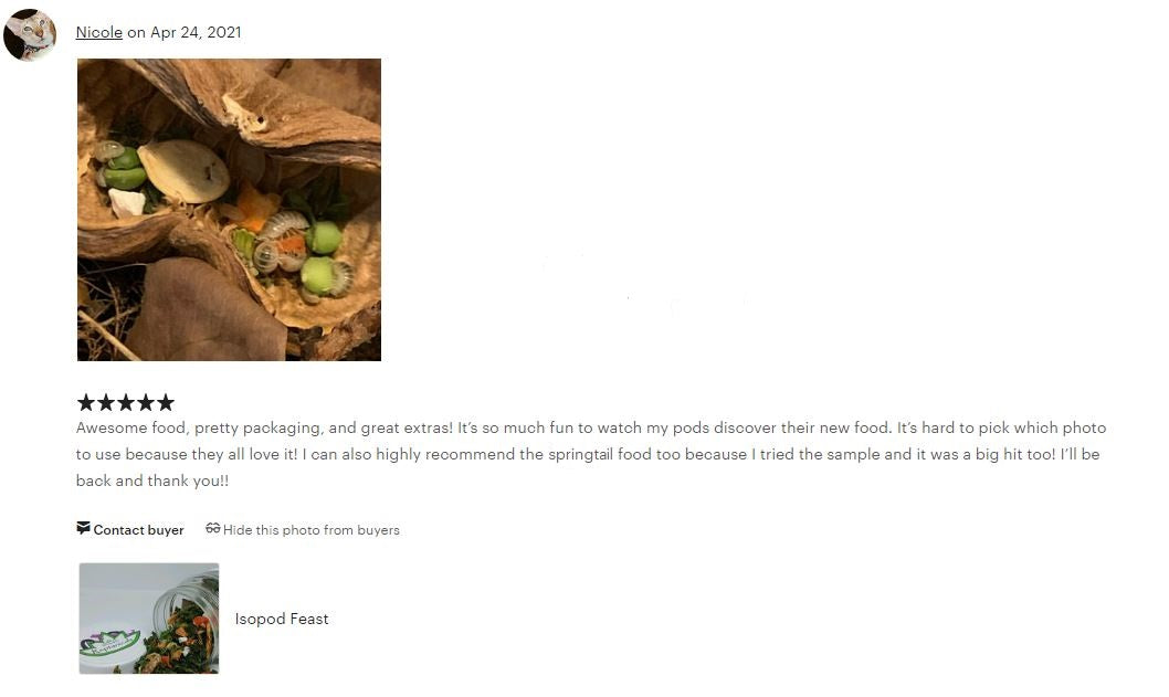 Reptanicals Isopod Feast Customer Review