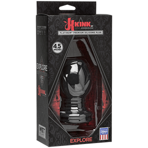 Kink Explore Silicone 4.5in Anal Plug Black