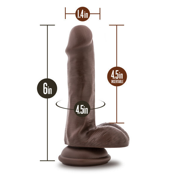 Loverboy Top Gun Tommy Chocolate 6in Dildo