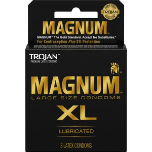 Trojan Magnum XL Latex Condoms 3pk