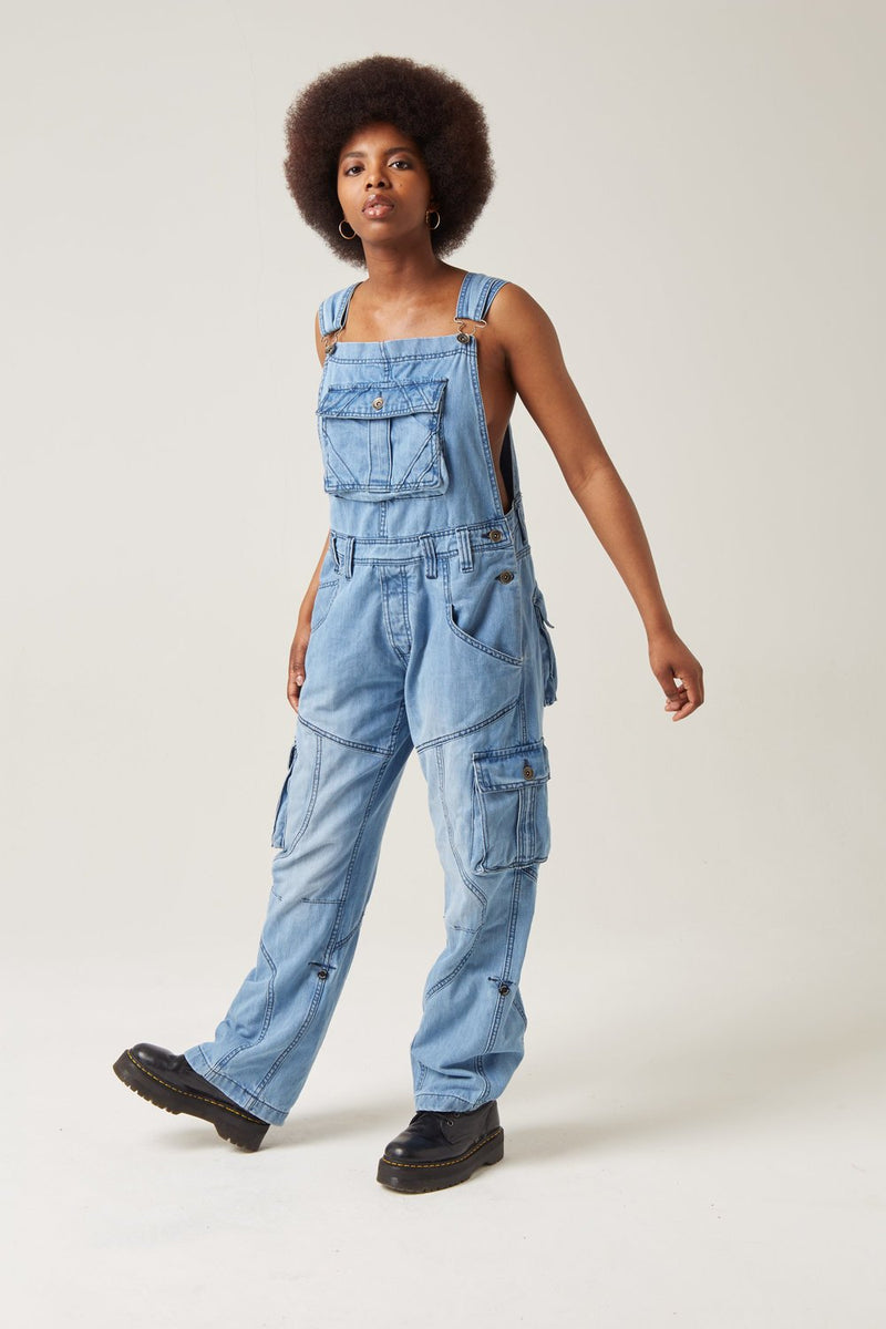 Peviani Light Wash Dungaree Overalls - Georgio Peviani