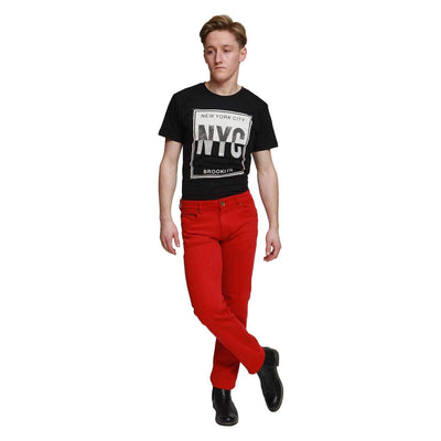 Red Georgio Peviani Comfort Fit Jeans
