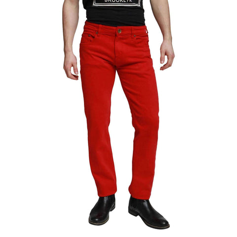Red Georgio Peviani Comfort Fit Jeans - Georgio Peviani