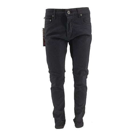 Mens Slim Jeans Black Denim - Georgio Peviani