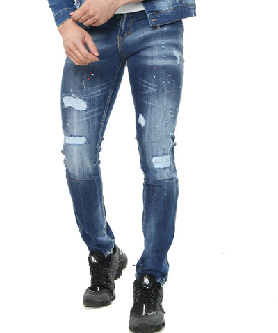 GP Red PAINT SPLATTER JEANS