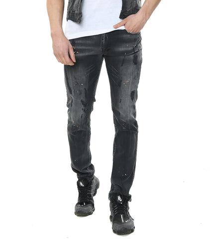 GP Grey PAINT SPLATTER JEANS