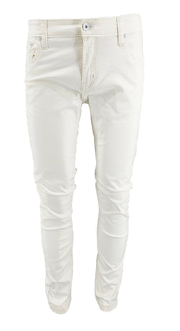 Mens Slim Fit Jeans White Wash - Georgio Peviani