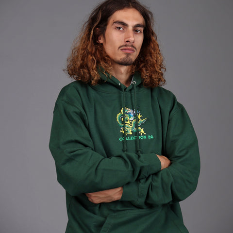 Harris Dragon Hoodie Green - 40% OFF