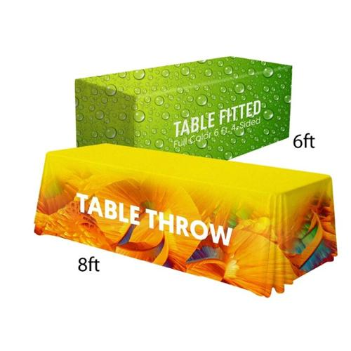 6'/8' Convertible Table Cloth (Full-Color Dye Sublimation, Full Bleed)
