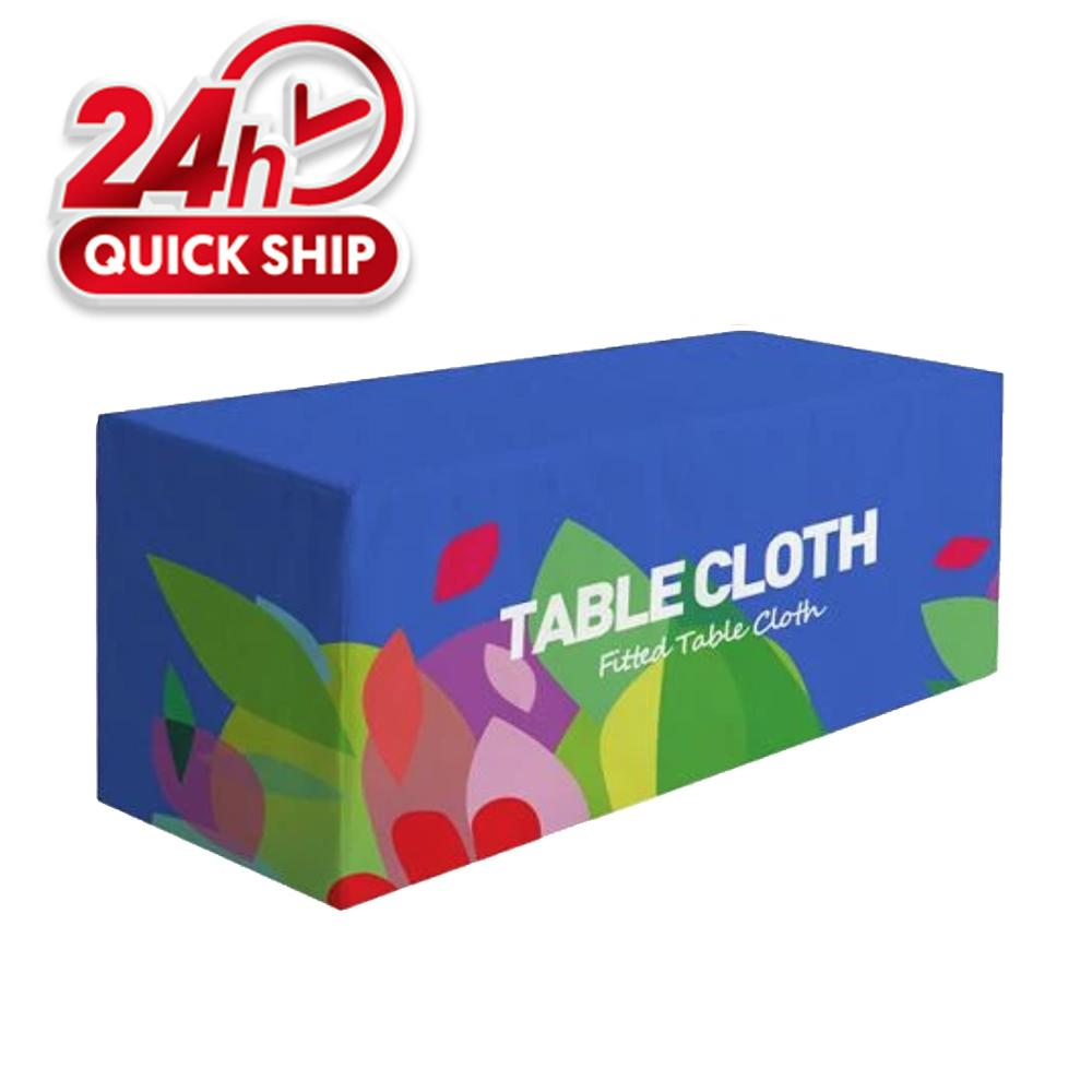 Premium Fitted Table Cover 6ft 4-Sided (Close Back) (Full-Color Dye Sublimation, Full Bleed)