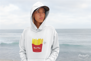 """Board Fries"" Woman Sweatshirt Organic Cotton & Recycled Polyester - Sweet Banana Riders"